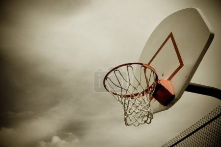 Photo for Basketball hoop warm filter - Royalty Free Image