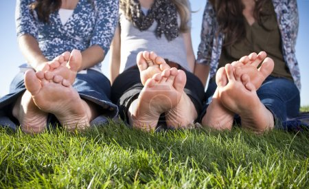 Barefoot Female Feet outdoors