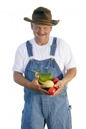 Farmer holding  Vegetables