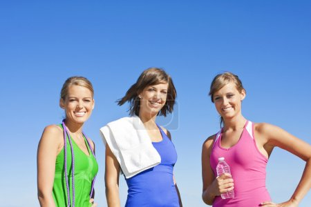 Women starting  fitness