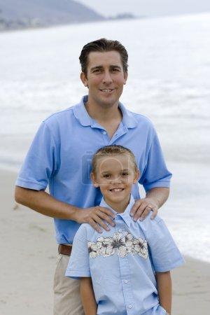 Photo pour Portrait père et fils - image libre de droit