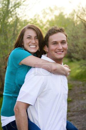 Smiling, Loving Couple