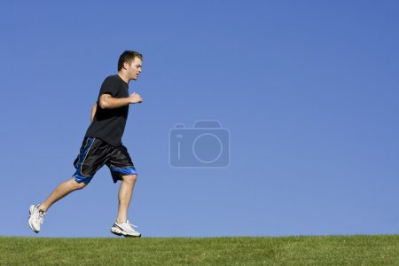 Man Jogging and Exercise