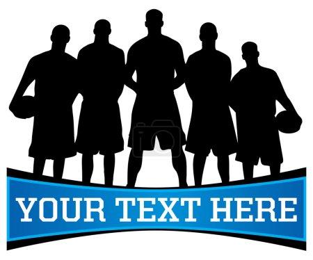 Basketball team silhouette