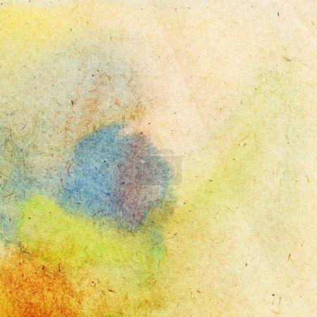 Photo pour Abstrait aquarelle colorée peint fond - image libre de droit