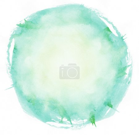 Photo for Bright watercolor brush strokes circle - Royalty Free Image
