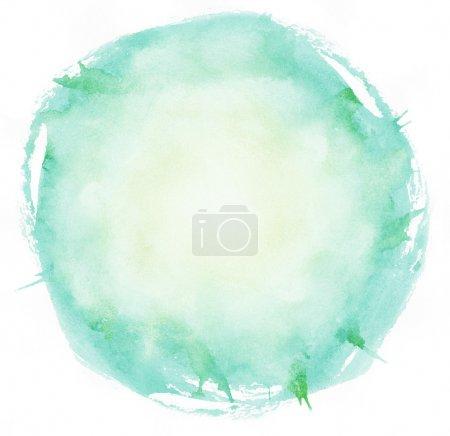 Foto de Círculo de trazos de pincel acuarela brillante - Imagen libre de derechos