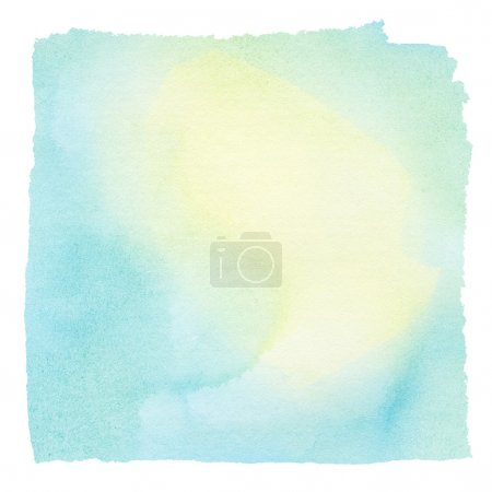Photo pour Aquarelle colorée peinte carré. Élément de conception - image libre de droit