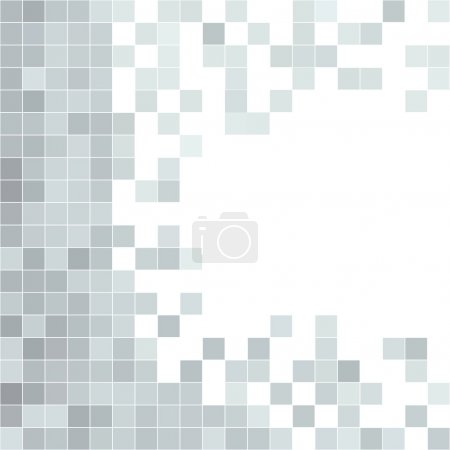 Illustration for Grey seamless pattern. Pixel mosaic background with copy space - Royalty Free Image