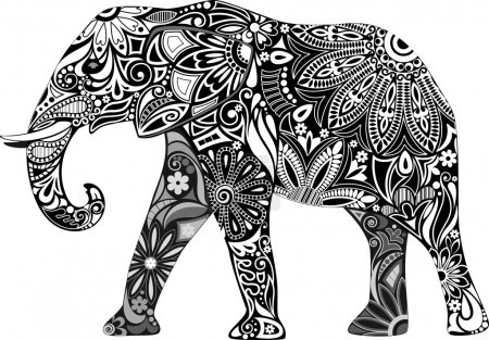 Illustration for The cheerful elephant. - Royalty Free Image