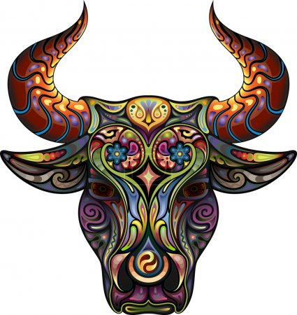 Illustration for Ornamental Bull - Royalty Free Image