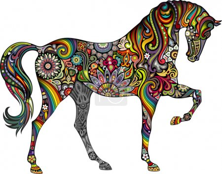 Illustration for Horse and Rainbow - Royalty Free Image