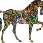 Cheerful horse...