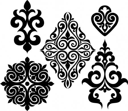 Illustration for Set elements of ethnic ornament - Royalty Free Image