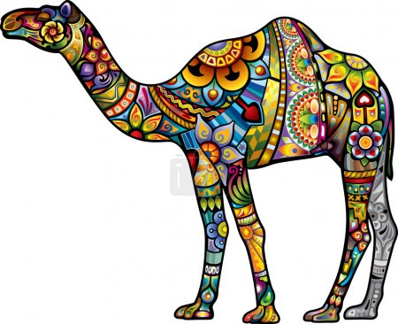 Illustration for Cheerful camel. - Royalty Free Image