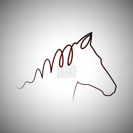 Illustration for Horse head logo - Royalty Free Image