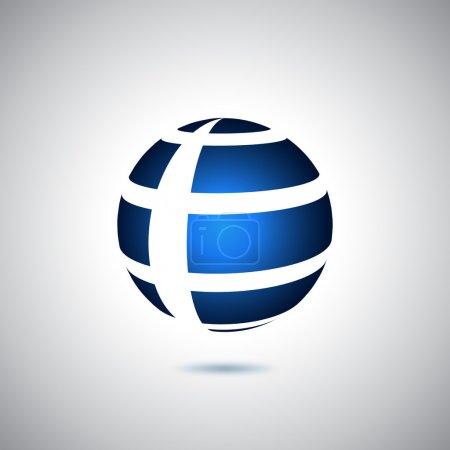 Illustration for World logo - Royalty Free Image