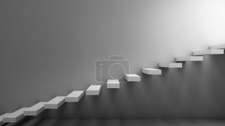 Way to freedom. Stairs in a minimalist style