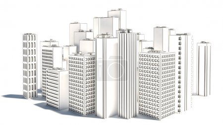 Modern Business City isolated on white background....