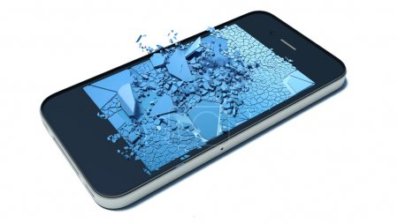broken glass smart-phone