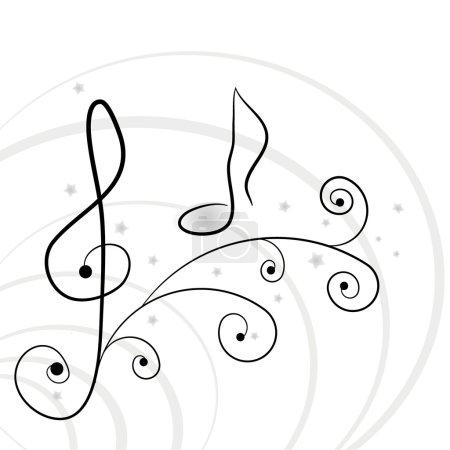 Illustration pour Musique de fond. Une illustration vectorielle - image libre de droit