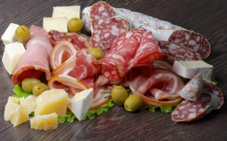 Arrangement of Delicatessen Cold Cuts with Smoked ...
