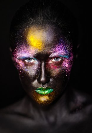 Art photo of beautiful model woman with creative p...