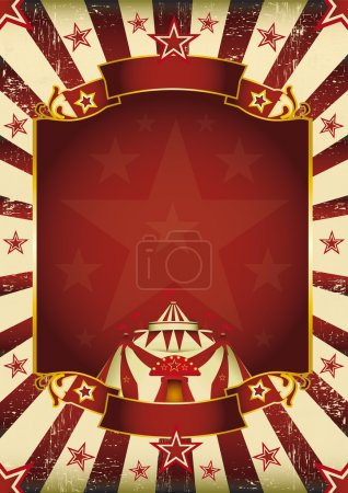 A new background vintage, textured on circus theme...