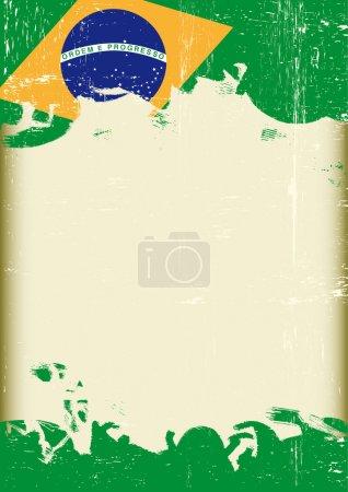 Grunge Brazilian flag.