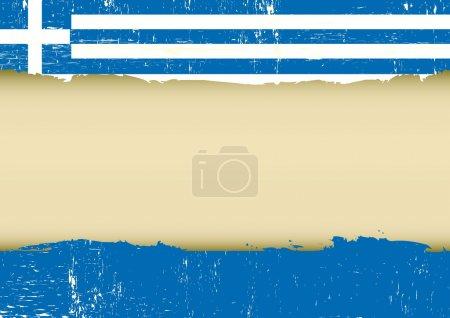 Bandera arañada griega