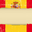 A spanish flag with a large frame for your message...