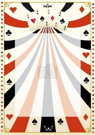 Vintage poker background.