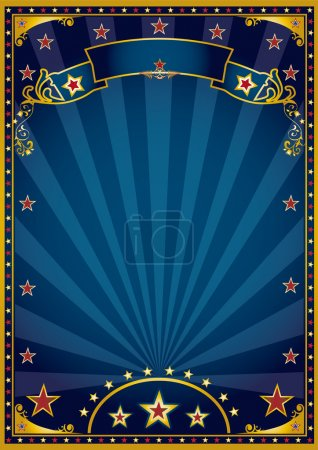 Blue and gold background. A retro blue background for a poster with sunbeams