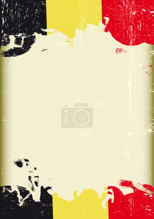 German grunge letter. A poster with a german flag