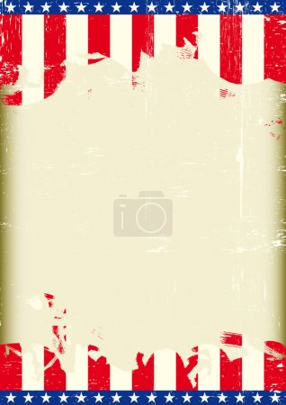 A grunge background with an american flag for a poster. Read your message