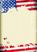 Grunge USA flag A poster with a large scratched frame and a grunge us flag for your publicity