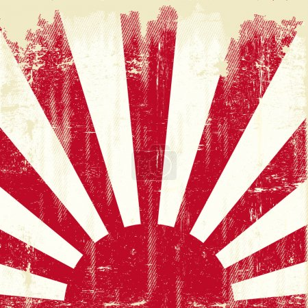 Japan grunge flag. An old japan grunge flag for you