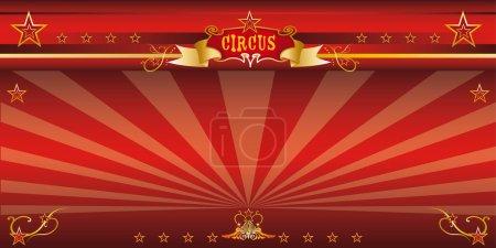 Red invitation circus.