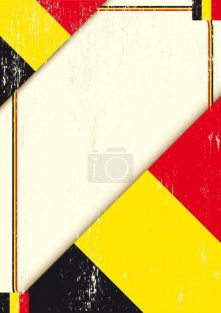 Belgian grunge letter.