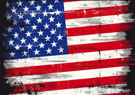 US distressed flag