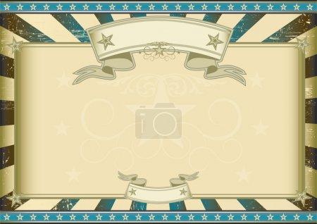 Textured blue retro certificate
