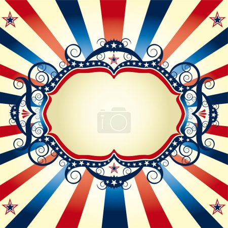 Beautiful blue red white background