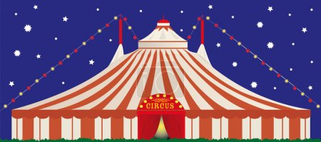 Illustration for A big top circus in the night - Royalty Free Image