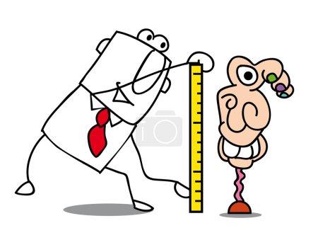Illustration of man tailor