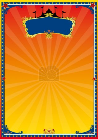 Red and yellow poster circus