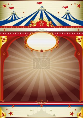 Illustration for An old style poster for your advertising. - Royalty Free Image