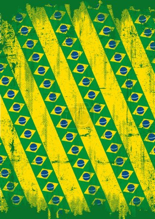 Grunge brazilian background