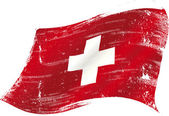 Swiss flag grunge