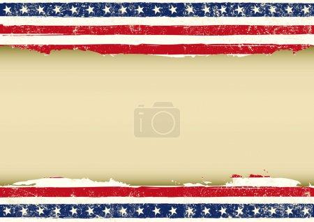 Horizontal American dirty flag