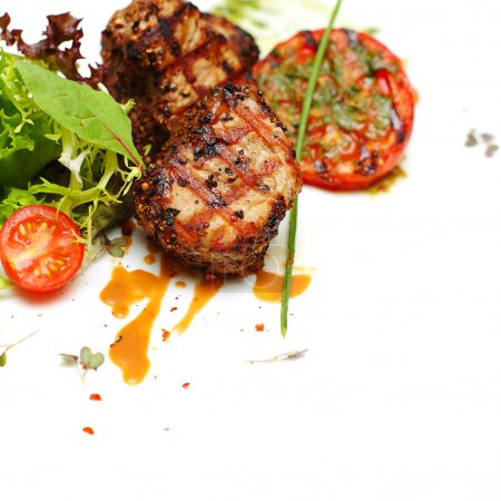 Photo for Gourmet food - steak meat, background - Royalty Free Image